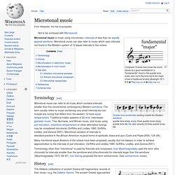 Microtonal music