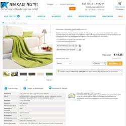 Deken plaid microvezel? Bestel dekens bij Ten Kate Textiel