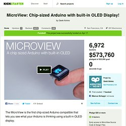 MicroView: Chip-sized Arduino with built-in OLED Display! by Geek Ammo