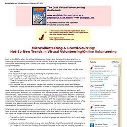 Microvolunteering, Crowd-Sourcing Virtual Volunteering