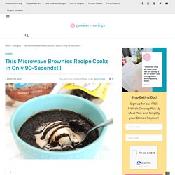 The Best Ever Microwave Brownies Recipe! Make in only 90 Seconds!!!