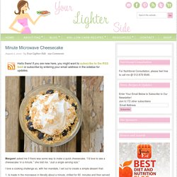 Minute Microwave Cheesecake