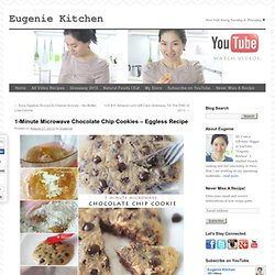 1-Minute Microwave Chocolate Chip Cookies - Eggless Recipe - Eugenie Kitchen