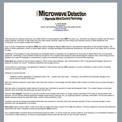 Microwave Detection - Remote Mind Control Technology