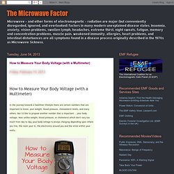 The Microwave Factor: How to Measure Your Body Voltage (with a Multimeter)