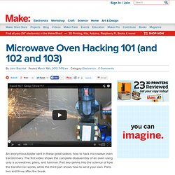 Microwave Oven Hacking 101 (and 102 and 103)