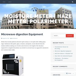 Microwave digestion Equipment