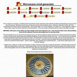 Microwave wind generator