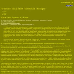 Microzyma Home Page