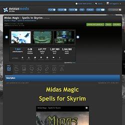 Midas Magic - Spells in Skyrim at Skyrim Nexus - Skyrim mods and community