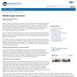 Middle Ages Customs