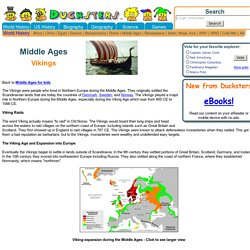Middle Ages for Kids: Vikings