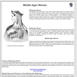 Middle Ages Women