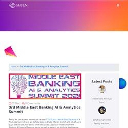Middle East Banking AI & Analytics Summit in Dubai, UAE