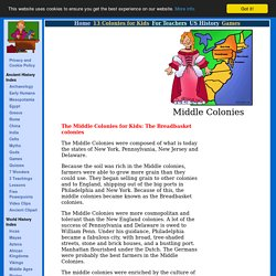 Middle Colonies - The 13 Colonies for Kids