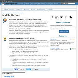 What is the Middle Market? - Definition from Divestopedia