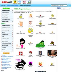 Get a finger emoticon for MSN and more!