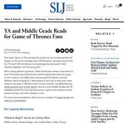 YA and Middle Grade Reads for Game of Thrones Fans