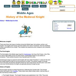 Middle Ages for Kids: History of the Medieval Knight