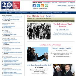 Middle East Quarterly - WINTER 2010 VOLUME 17: NUMBER 1