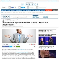 Why Does the (White) Lower Middle Class Vote Republican?