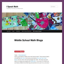 Middle School Math Blogs