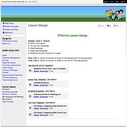 Middle School Messenger - Lesson Design