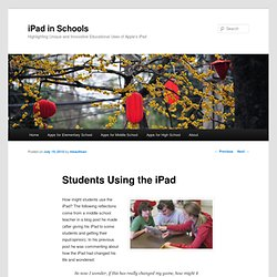 Using the iPad with Middle School Students