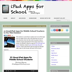 21 Good iPad Apps for Middle School Teachers to Try This Summer