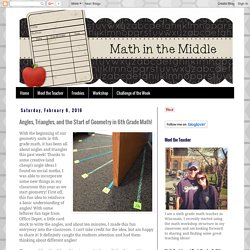 Angles, Triangles, and the Start of Geometry in 6th Grade Math!
