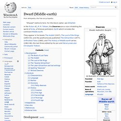 Dwarf (Middle-earth)