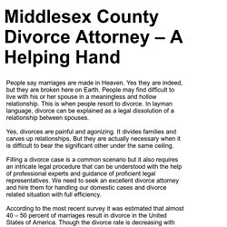 Middlesex County Divorce Attorney – A Helping Hand