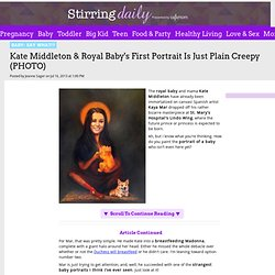 Kate Middleton & Royal Baby's First Portrait Is Just Plain Creepy (PHOTO)