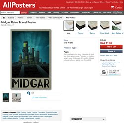 Midgar Retro Travel Poster Posters at AllPosters.com