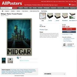 Midgar Retro Travel Poster Posters at AllPosters.com