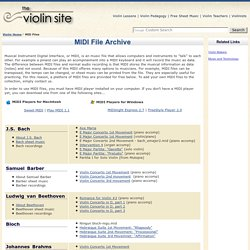 MIDI Files for Violinists