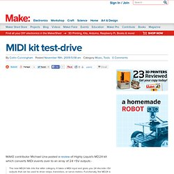 Make: Online : MIDI kit test-drive