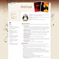MidiYodi - MIDI Editor and MIDI Player