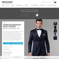 Premium Midnight Blue Tuxedo - Free Shipping