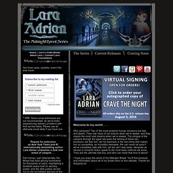 Lara Adrian | The Midnight Breed | Vampire Romance Series