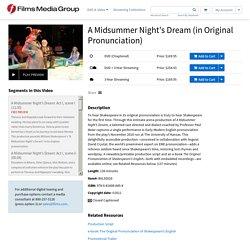 Media Group - A Midsummer Night's Dream (in Original Pronunciation)