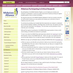 Midwives Participating in Critical Research | Midwives Alliance of North America