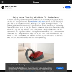 Enjoy Home Cleaning with Miele CX1 Turbo Team