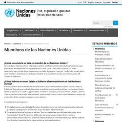 Miembros de las Naciones Unidas