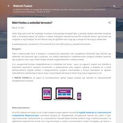 Miért fontos a weboldal tervezés?