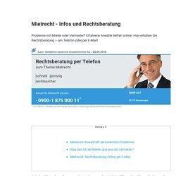 Mietrecht - Infos und Rechtsberatung