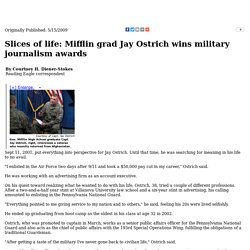 Slices of life: Mifflin grad Jay Ostrich wins military journalism awards