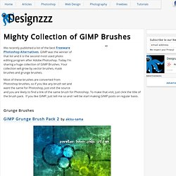 Mighty Collection of GIMP Brushes