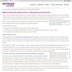 Miglioramento della portata wireless - Ottimizzazione dei dispositivi