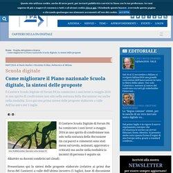Come migliorare il Piano nazionale Scuola digitale, la sintesi delle proposte
